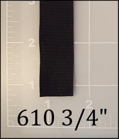"nylon black binding tape 3/4"""