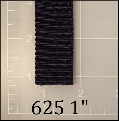 """nylon black tubular webbing 1"""" ACW American Cord and Webbing AC&W 10506"""
