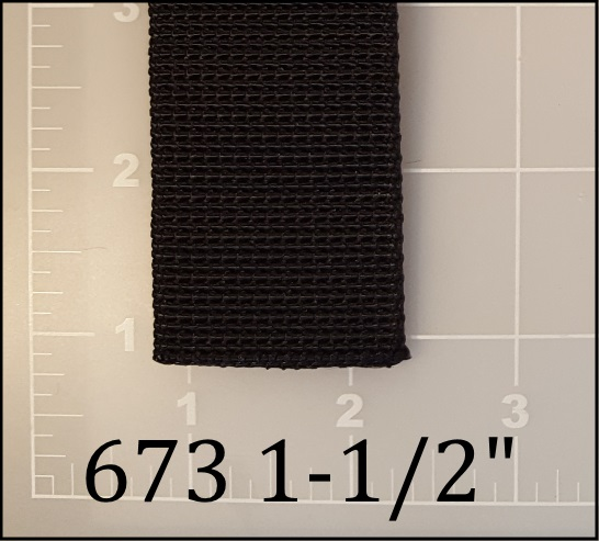 "nylon black divers weight belt webbing 1-1/2"" ACW American Cord and Webbing AC&W 40530"