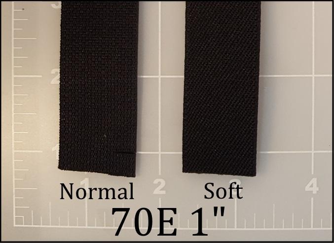 "black elastic webbing 1"" 70E ACW American Cord and Webbing AC&W"