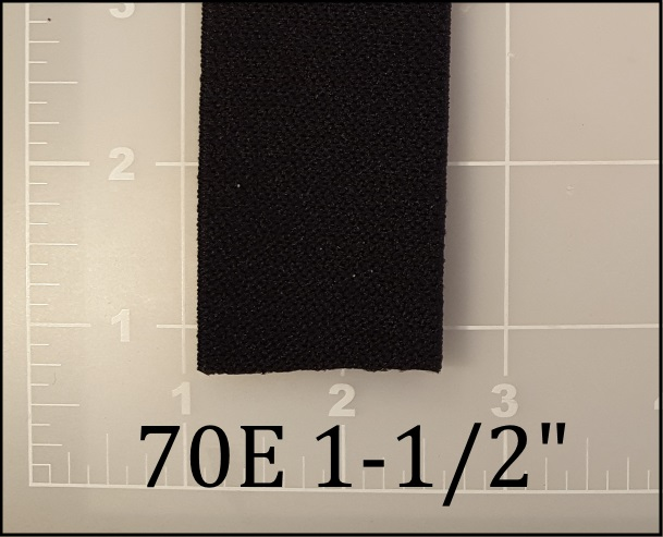 "black elastic webbing 1-1/2"" 70E ACW American Cord and Webbing AC&W"