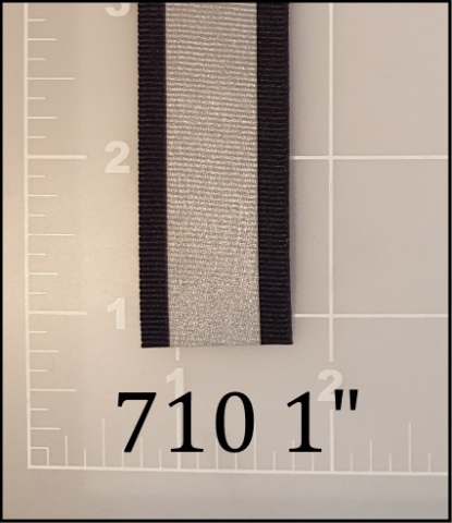 """polyester reflective black tape 1"""" ACW  AC&W American Cord and Webbing 710 10617 510"""