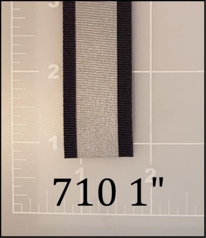 "polyester reflective black tape 1"""