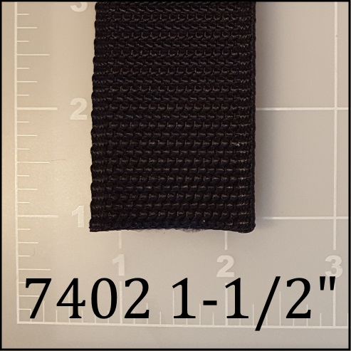 "nylon black dog leash webbing 1-1/2"" ACW American Cord and Webbing AC&W 16831"