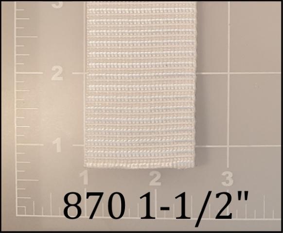 "polypropylene white webbing 1-1/2"""