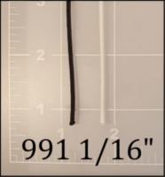 "nylon black white cord 1/16"" ACW  AC&W American Cord and Webbing 50282 50480"