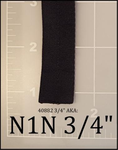 "nylon black webbing binding tape 3/4"""