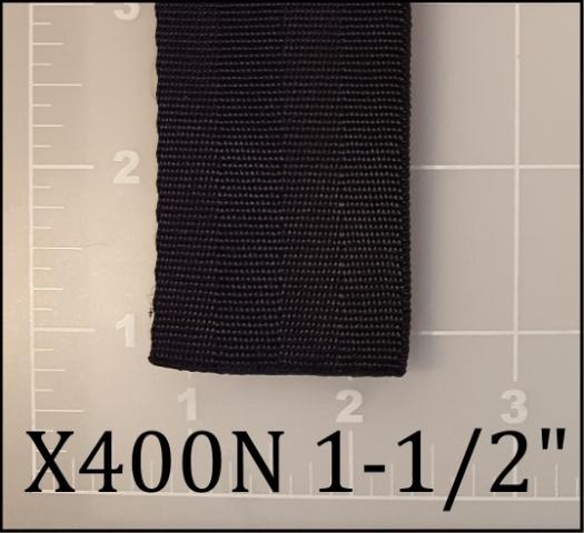 "nylon black seatbelt webbing 1-1/2"" ACW American Cord and Webbing AC&W 40532"