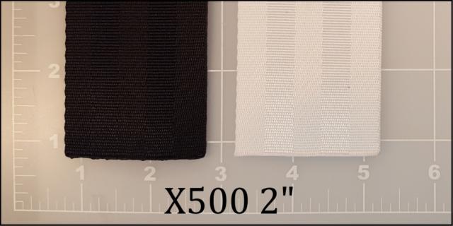"polyester black white seatbelt webbing 2"" ACW American Cord and Webbing AC&W  40537 46290"