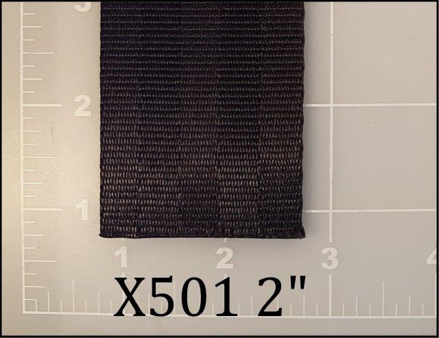 "polyester black seatbelt webbing 2"" ACW American Cord and Webbing AC&W 41800"