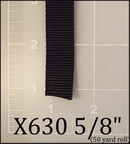 "nylon black webbing 5/8"" ACW American Cord and Webbing AC&W 02904"
