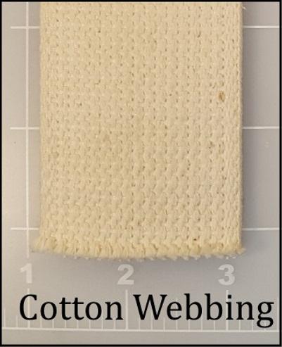 cotton webbing handle backpack bag natural
